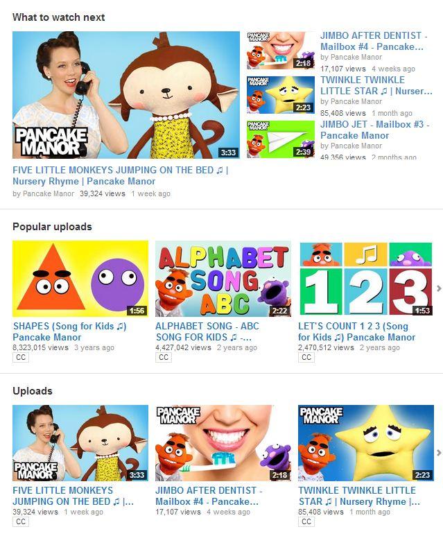 videos para niños en inglés